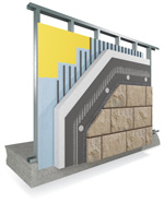 Masonry Veneer System over Continuous Insulation (MVS-CI)